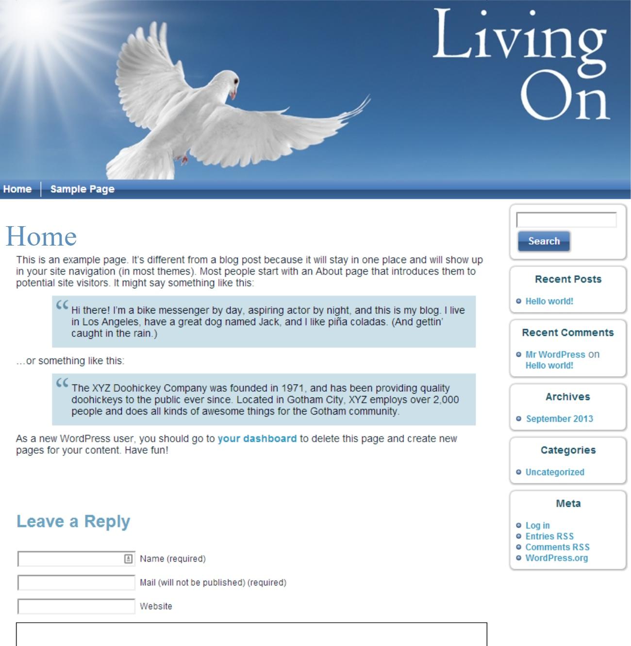 livingonpage